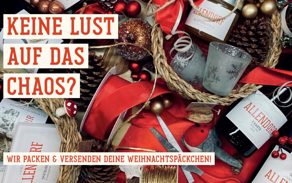 Weihnachtsgeschenke Weingut Allendorf