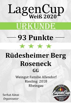 Lagencup 93 Punkte Roseneck