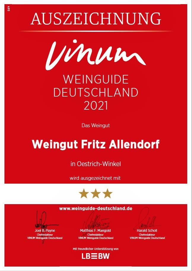 Vinum Bewertung Weinführer Weingut Allendorf